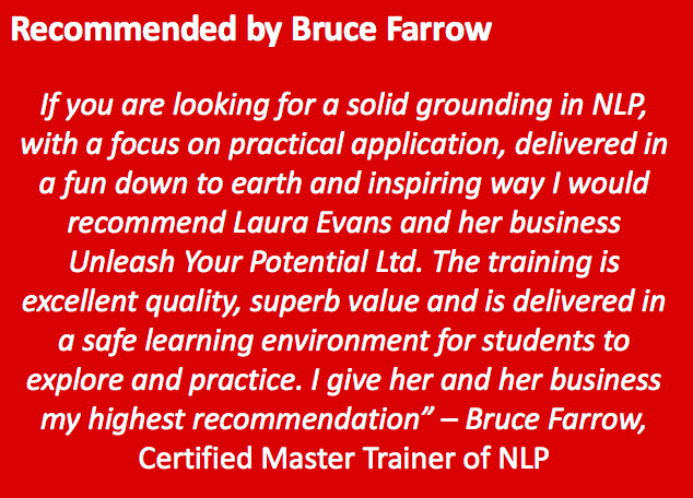 Bruce Farrow Recommendation for Laura Evans NLP Trainer