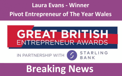 Unleash Your Potential founder Laura Evans named Pivot Entrepreneur of the Year at Great British Entrepreneur Awards