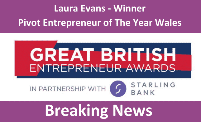 Great British Entrepreneur Awards winner Laura Evans Pivot Entrepreneur of the year