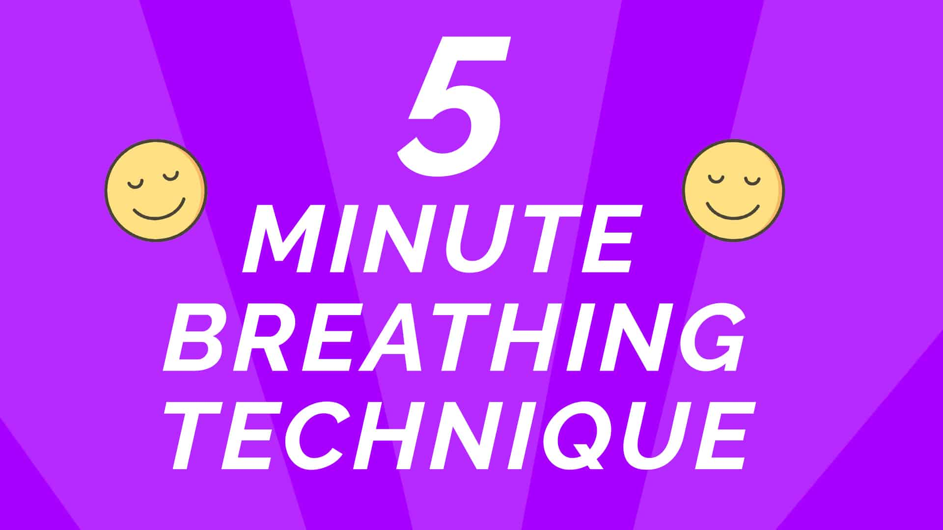 breathing technique 5 minute breathing technique with the tracing hand exercise