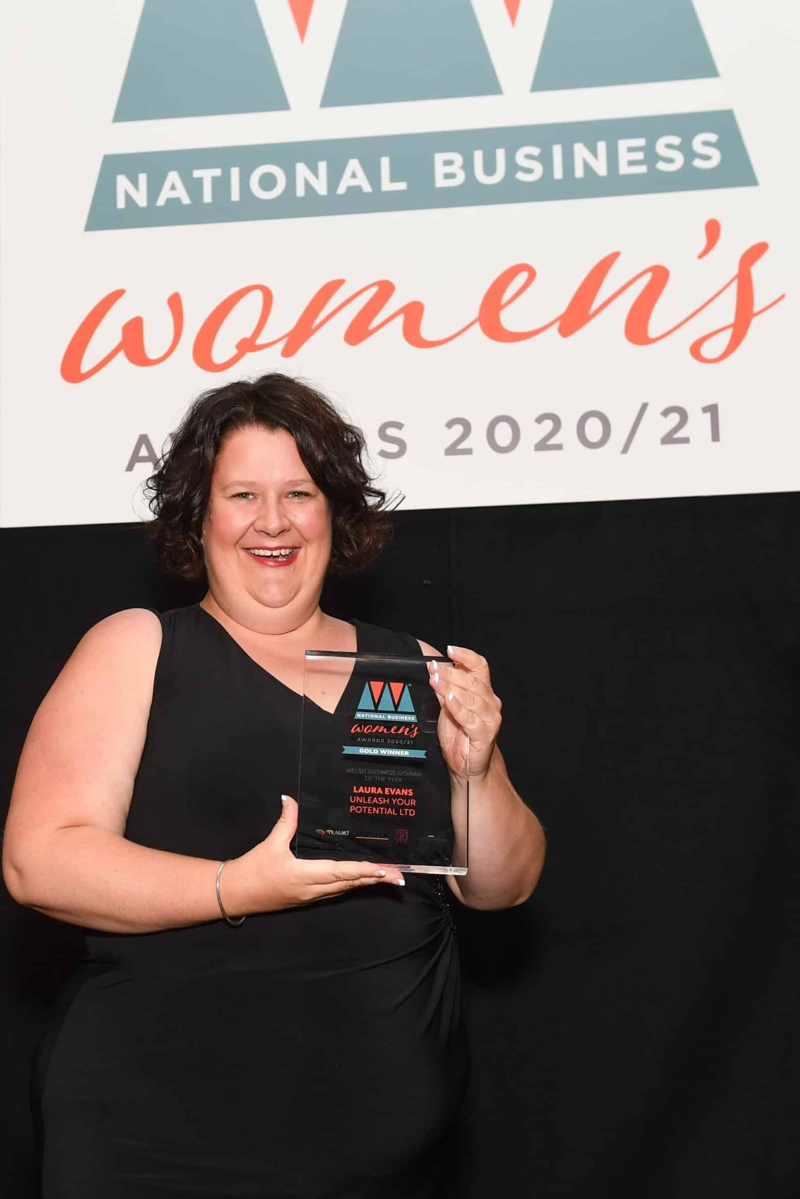 Laura Evans Welsh Business Woman of the Year 2020 2021 award wining NLP Trainer